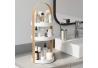 Estante Org Cosmético, Blanco/Natural, Regular para baño