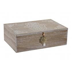 Caja de madera mango mano fatima con separacion