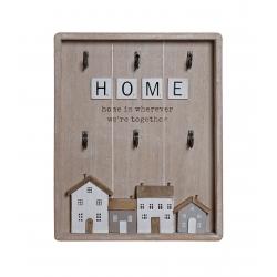GuardaLlaves de Madera Home casas romántica para la Entrada