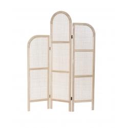 Biombo plegable de ratan natural 3 paneles 120x170 cm