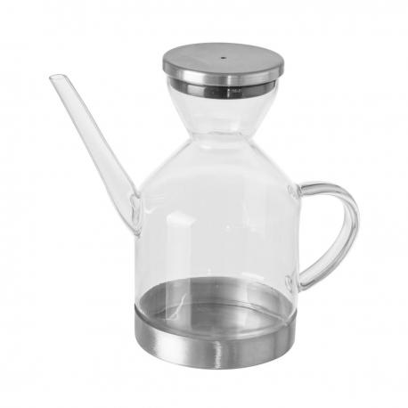 Aceitera de 350 ml moderna transparente de cristal para cocina Basic