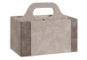 Portamandos Pu gris claro 18x10x15 cm