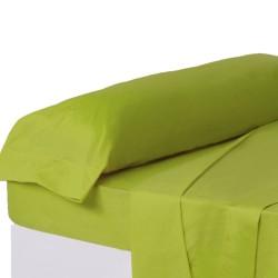 Juego de sábanas de cama 135 clásico verde de algodón / poliéster Basic