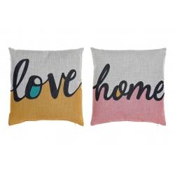 Juego de 2 cojin de poliester de color Love & Home