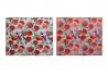 Juego de 2 tapete escurridor microfibra para cocina melocotones 50x38 cm