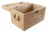 Juego de 2 caja de madera mango mandala 40x25x26