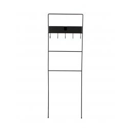 Toallero metal negro 51x11x159 cm
