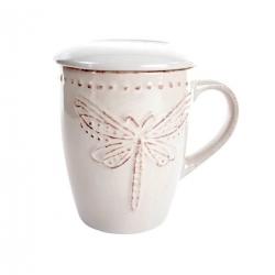 Taza infusion con tapa diseño original mariposa