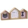 Estante madera infantil gatos lover 44x8x19,5 cm