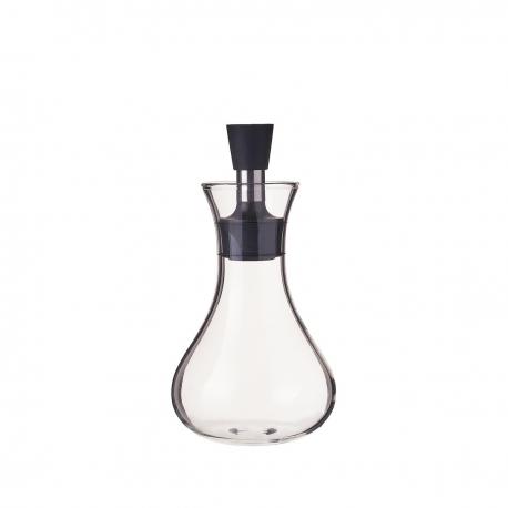 Aceitera antigoteo pequeña de cristal y acero inoxidable transparente de 320 ml