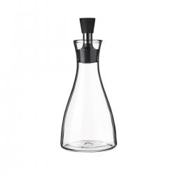Aceitera antigoteo grande de cristal y acero inoxidable transparente de 500 ml