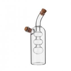 Aceitera y vinagrera pequeña 2 en 1 de cristal transparente de 45+190 ml