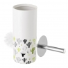 Escobilla de baño de cactus blanca de cerámica exótica, de ø 10x32 cm