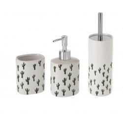 Conjunto Set baño 3 piezas ceramica de cactus