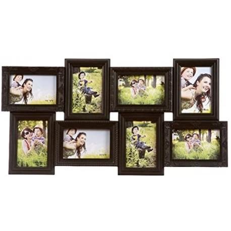 Portafotos multiple negro 8 fotos (10 X 15)