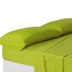 Juego de sábanas de cama 150 clásico verde de algodón / poliéster Basic
