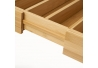 Bandeja para cubiertos extensible de bambú natural de 37x35 cm