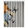 Cortina de baño de cómic gris de poliéster de 180x200 cm