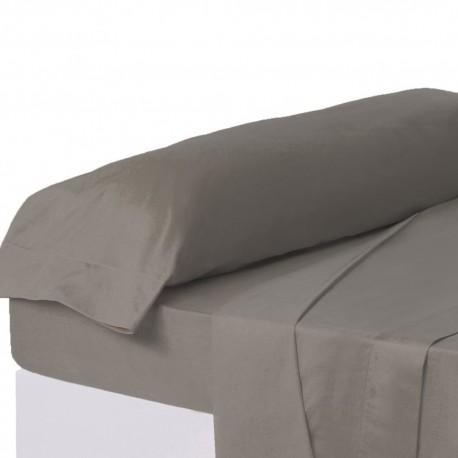 Juego de sábanas de cama 135 clásico gris de algodón / poliéster Basic