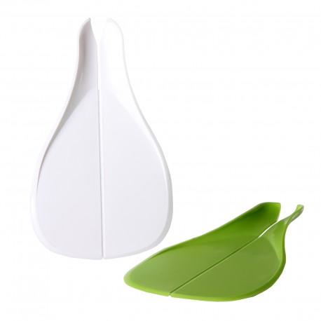 Tabla para cortar plegable multifuncional colador de cocina blanco y verde (pack de 2 piezas)