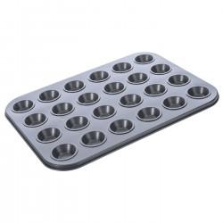 Molde horno cupcake acero al carbono para 24 mini cupcakes