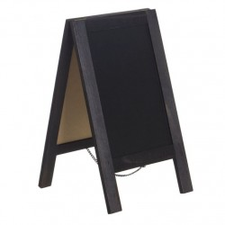 Pizarra doble cara con tizas madera Medida: 34 X 15 cm