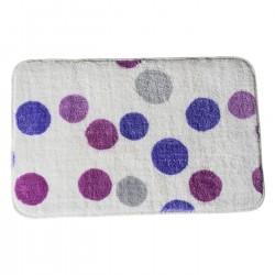 Alfombra de ducha pop lila antideslizante para cuarto de baño de 45 x 70 cm