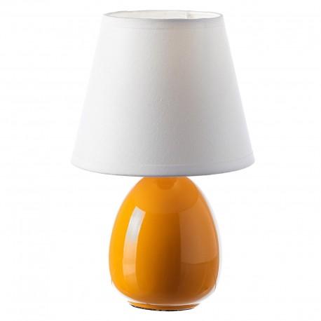 Lámpara para mesita de noche moderna naranja de cerámica para dormitorio