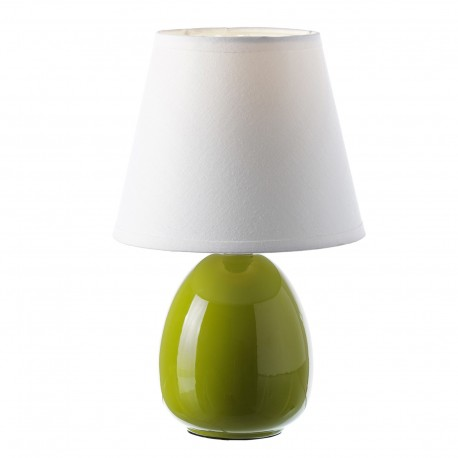 Lmpara para mesita de noche moderna verde de cermica para dormitorio
