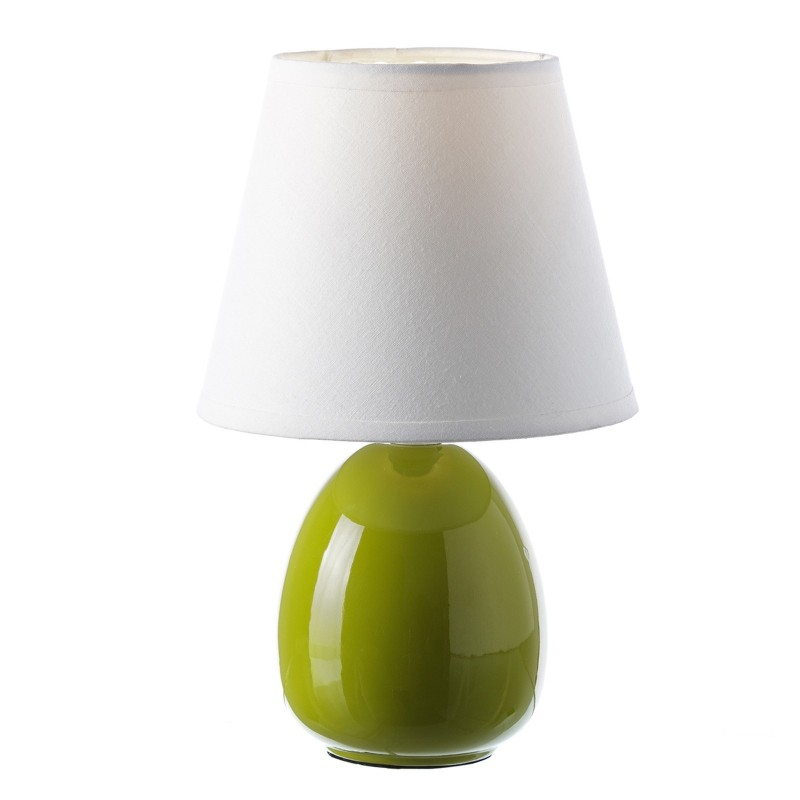 L mpara para mesita de noche moderna verde de cer mica para dormitorio - Lamparas de mesa para dormitorio ...