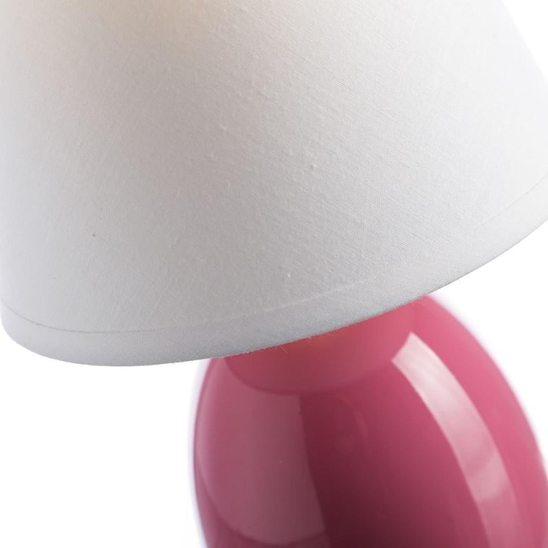 L mpara para mesita de noche moderna rosa de cer mica para dormitorio - Mesitas de noche de pared ...