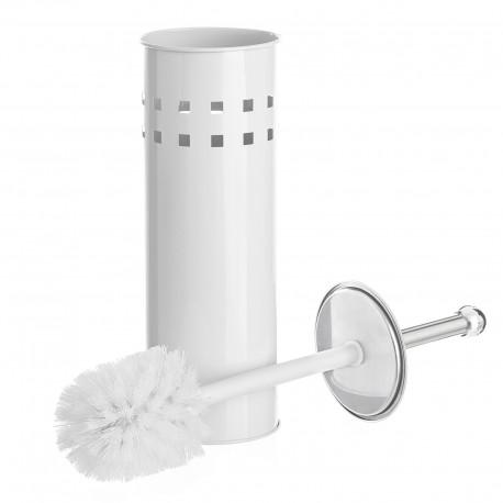 Escobillero blanco metal calidad 10 x 10 x 39 cm .