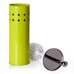 Escobillero verde metal calidad 10 x 10 x 39 cm .