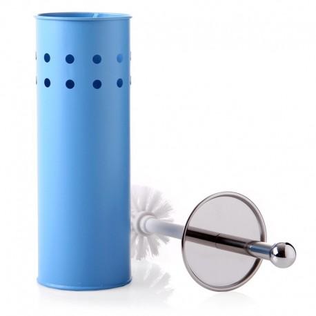 Escobillero azul metal calidad 10 x 10 x 39 cm .