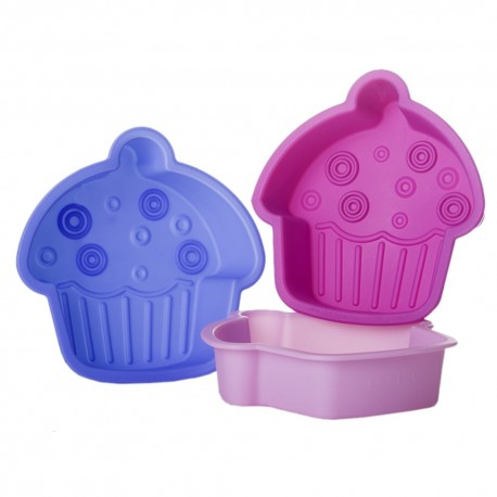 Molde forma pastel cupcake silicona 3/c