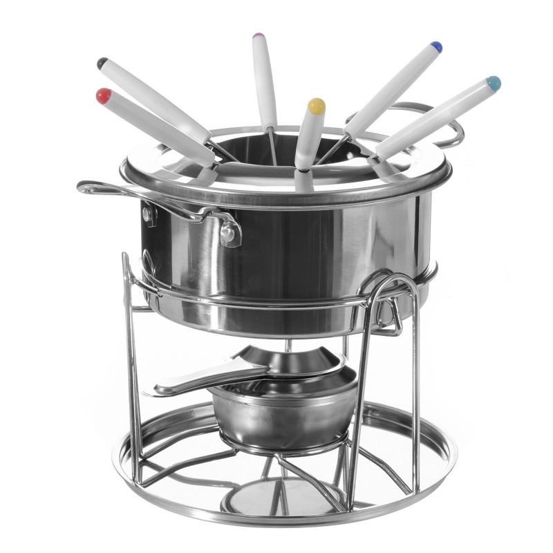 Fondue con 6 tenedores acero inoxidable para cocina for Accesorios para cocina en acero inoxidable