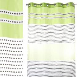 "Cortina anillas para salon ""zurich"" verde 140 x 260 cm con 8 anillas metálicas. 100% poliéster."