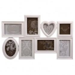 Portafotos plastico multiple blanco 8 Fotos clasicos