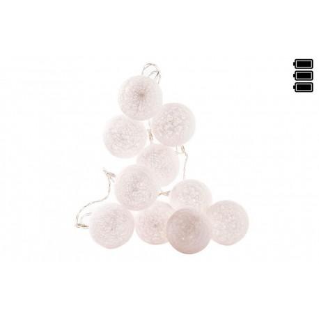 Gulnalda Luz led 10 bolas algodon muy romantico por noche 6x150 cm