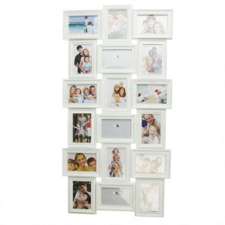 Portafotos plastico multiple blanco 18 Fotos moderno