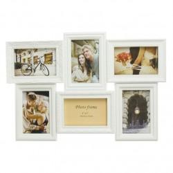 Portafotos plastico multiple blanco 6 Fotos moderno