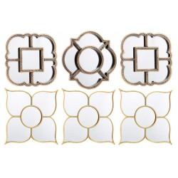 Juego de 3 espejos de pared clásicos decoración sobria y elegante.