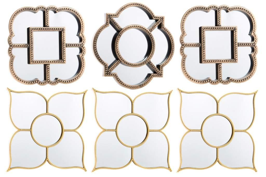 juego de espejos de pared clsicos decoracin sobria y elegante
