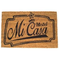 Felpudo divertidos HOTEL MI CASA 40X60 CM