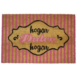 Felpudo original dulce hogar rosa romantico 40x60 cm