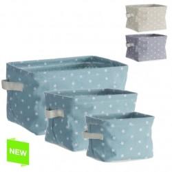Cestas organizador rectangular colores estrellas - Set 3 cestas