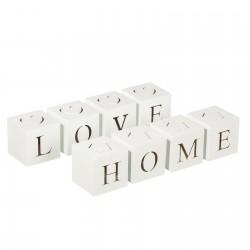 Cajas romantico con luz de led blanco 2/m mdf 8 x 8 x 32 cm
