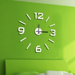 Reloj de Pared 3D Adhesivos DIY blanco 60cm