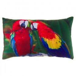 """Cojín rectangular """"parrots"""" multicolor 50x30 cm 100% poliéster"""