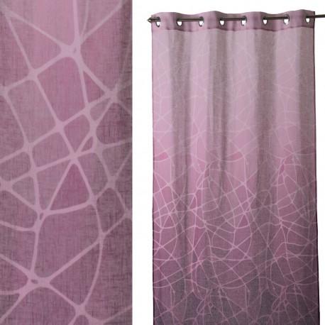 """Cortina anillas para salon """"andrea"""" rosa 140 x 260 cm con 8 anillas metálicas. 100% poliéster."""